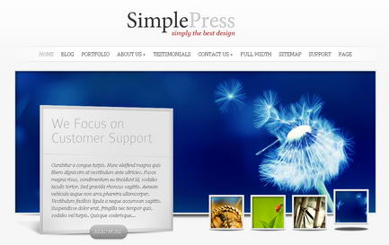 SimplePress - Премиум тема WordPress