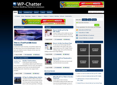 WP-Chatter - тема  для WordPress