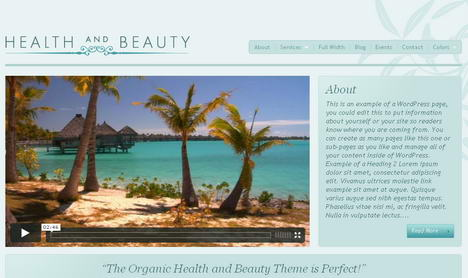 Health and Beauty тема WordPress