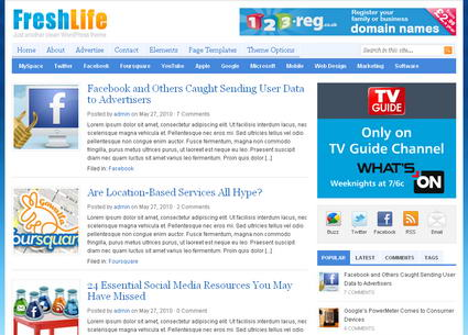 Freshlife v1.0.3 тема WordPress
