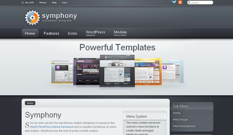Symphony - Премиум тема WordPress от YOOtheme