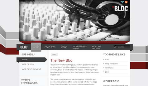 Bloc - Премиум тема WordPress от YOOtheme