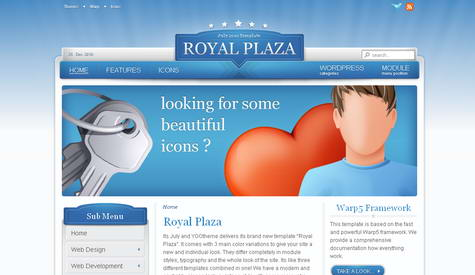 Royal Plaza - Премиум тема WordPress от YOOtheme