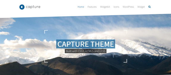 Capture - тема WordPress для сайтов бизнес-портфолио