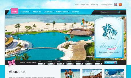 Sea Resort - Бизнес-шаблон для Joomla