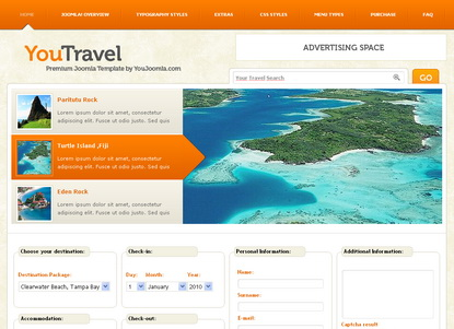 You Travel - шаблон Joomla!